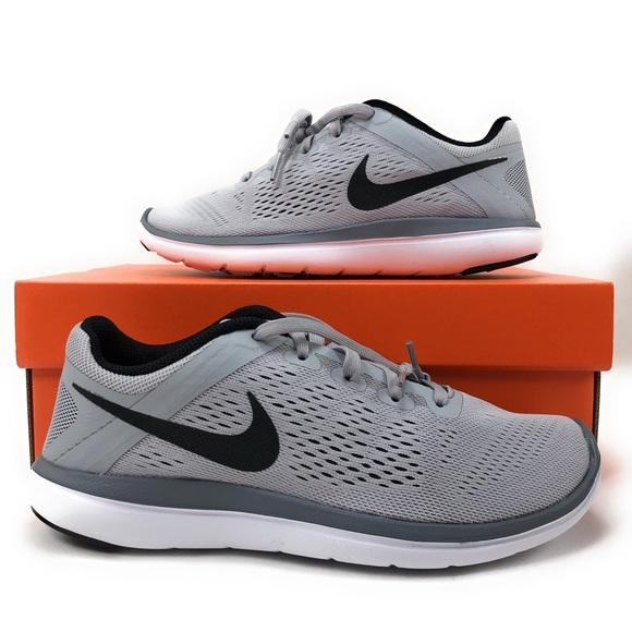 Nike Flex Run youth boys kids shoes 4.5y grey NIB